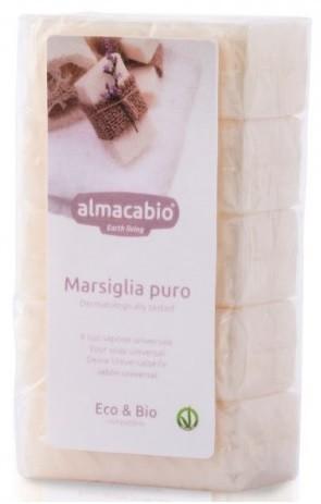 Almacabio (środki czystości) MYDŁO MARSYLSKIE KOSTKA ECO (5 x 100 g) 500 g -