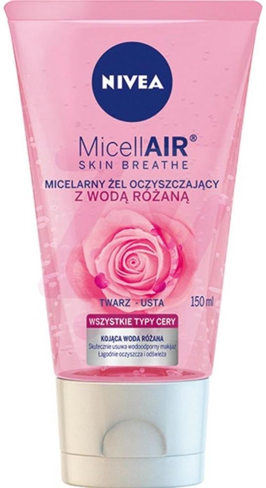 Nivea MicellAir Skin Breathe Micelarny żel oczyszczający z wodą różaną 150 ml