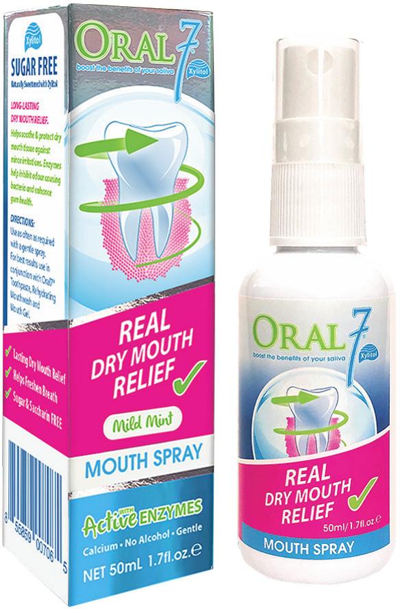 ORAL7 ORAL7 Spray 50ml - spray na suchość jamy ustnej o właściwościach nawilżających