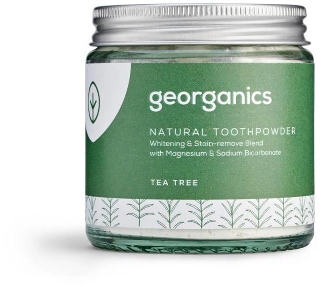 Georganics Georganics, Proszek do czyszczenia zębów, Tea Tree, 120 ml 5060480200821