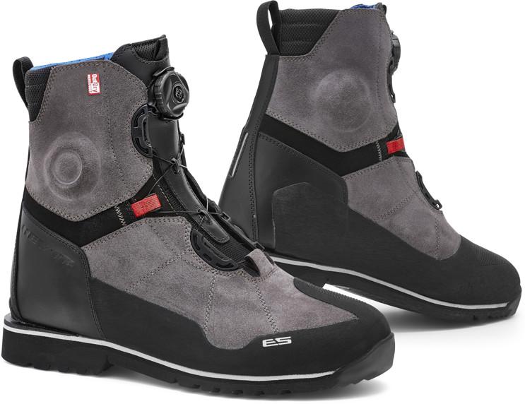 58497fec45b31 REV'IT REV'IT PIONEER OUTDRY Krótkie turystyczne buty motocyklowe  czarno-szare :