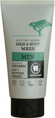 Urtekram Płyn do mycia włosów i ciała dla mężczyzn BIO - 150 ml -
