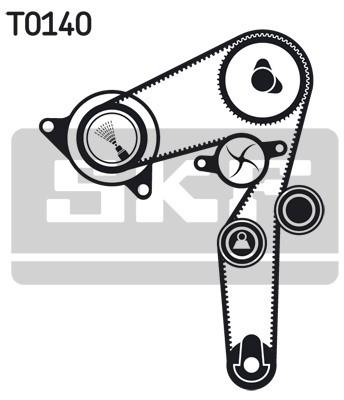 SKF Rozrząd komplet (pasek i rolka) SKF VKMA 02179