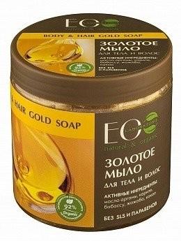 EO LABORATORIE EO LAB Złote marokańskie mydło do włosów i ciała 450ml 1234582849