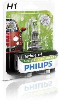 Philips H1 12V 55W P14,5s LongLife EcoVision