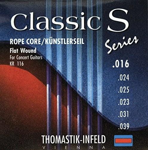 Thomastik pojedynczy sznurek E1 .016 nylonowa taśma na jedwabnym rdzeniu, narzuta KN16 do klasycznej gitary klasycznej serii S zestaw rdzeni linowych KR116 656681
