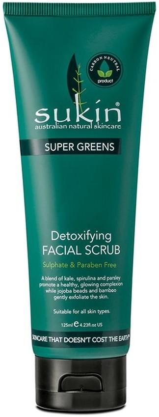 Sukin Super Greens, detoksykujący scrub do twarzy, 125 ml