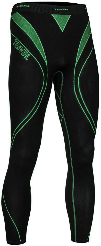TERVEL OPTILINE męskie spodnie getry termoaktywne OPT3004 czarno-zielony