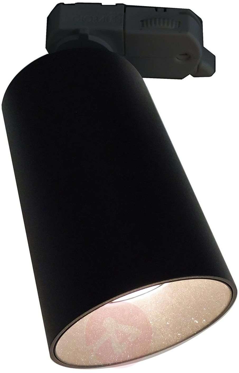 Lampenwelt com 3-fazowy reflektor Brinja, system szynowy, czarny