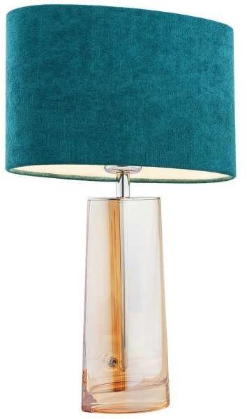 Argon Stojąca LAMPKA sypialniana PRATO 3841 stołowa LAMPA abażurowa do salonu różowa przezroczysta 3841