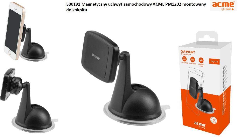 Acme EUROPE Uchwyt samochodowy magnetyczny PM1202 do kokpitu lub szyby 500191