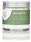 Georganics Georganics, proszek do czyszczenia zębów Tea Tree, 60 ml