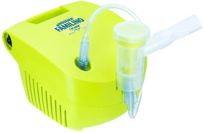 NOVAMA Inhalator pneumatyczno-tłokowy z dożywotnią gwarancją FAMILINO by FLAEM