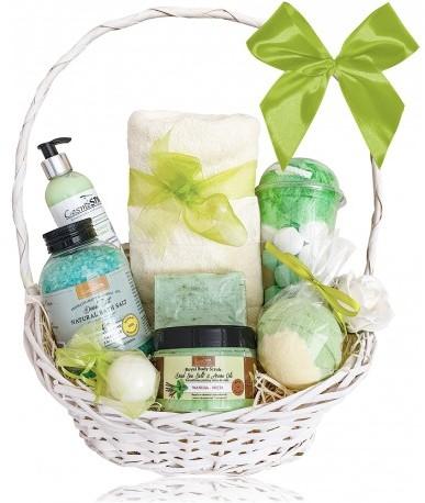 CosmoSPA Kosz prezentowy kosmetyków Zielone Owoce