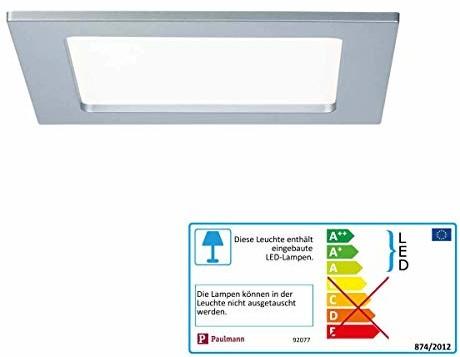 Paulmann LED lampa do montażu w łazience 12W neutralny biały 92077chrom 92077