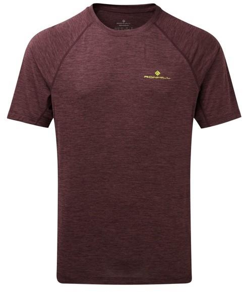 RONHILL RONHILL koszulka biegowa męska MOMENTUM S/S TEE bordowa