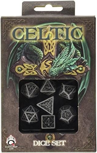 Q-Workshop Q-workshop kostki Celty zestaw 3D, szary - czarny
