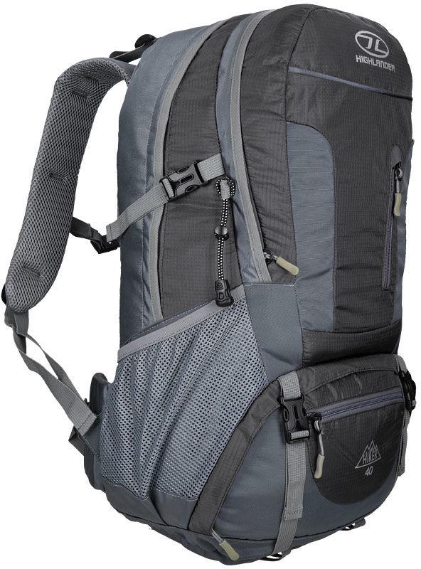 Highlander Plecak Trekkingowy Hiker 40L Czarny RUC212-BK