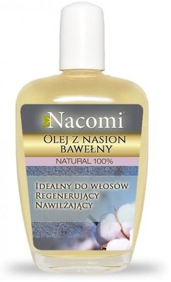 Nacomi Rafinowany Natural 100% Olej z Nasion Bawełny Idealny do włosów Regenerujący Nawilżający 30ml