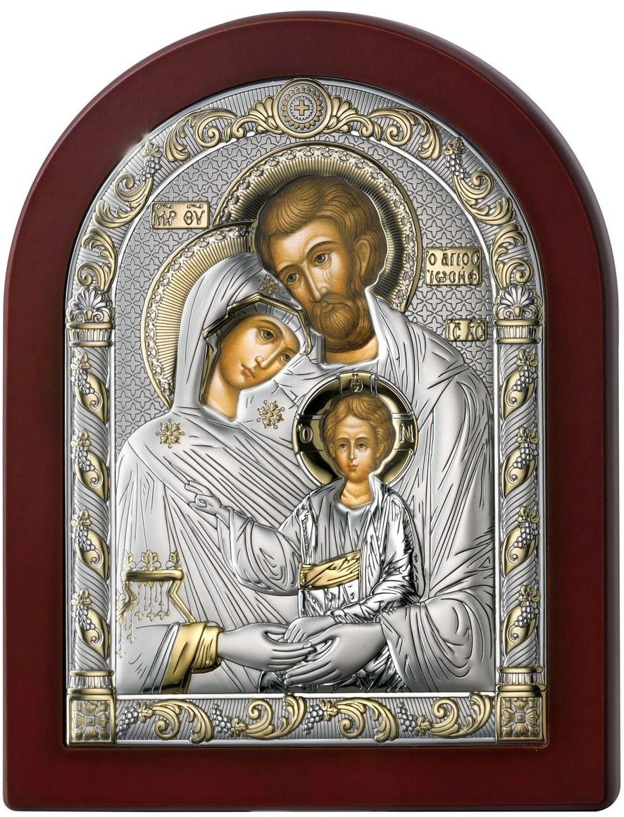 Valenti Ikona Święta Rodzina ze złoceniem   Rozmiar: 6x8.5 cm   SKU: VL84125/1LORO