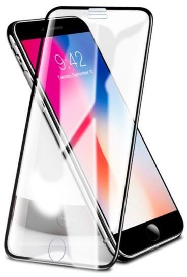 Rock Rock Glass - Szkło Hartowane na Cały Ekran do iPhone 6/6s/7/8 - bezpyłowe RCK045BLK