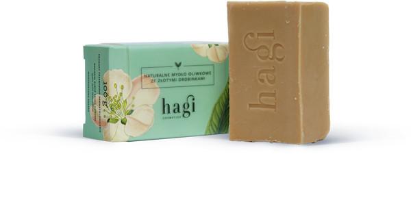 Hagi Cosmetics Hagi mydło oliwkowe ze złotymi drobinkami 100 g