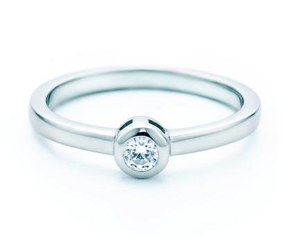 SAVICKI Pierścionek zaręczynowy Le Coeur: białe złoto, diament MR-R1-1-B