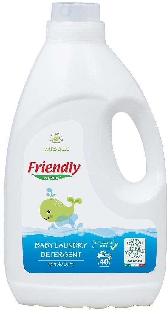 Organic FRIENDLY Friendly Płyn do prania ubranek dziecięcych, 2L, Mydło Marsylskie