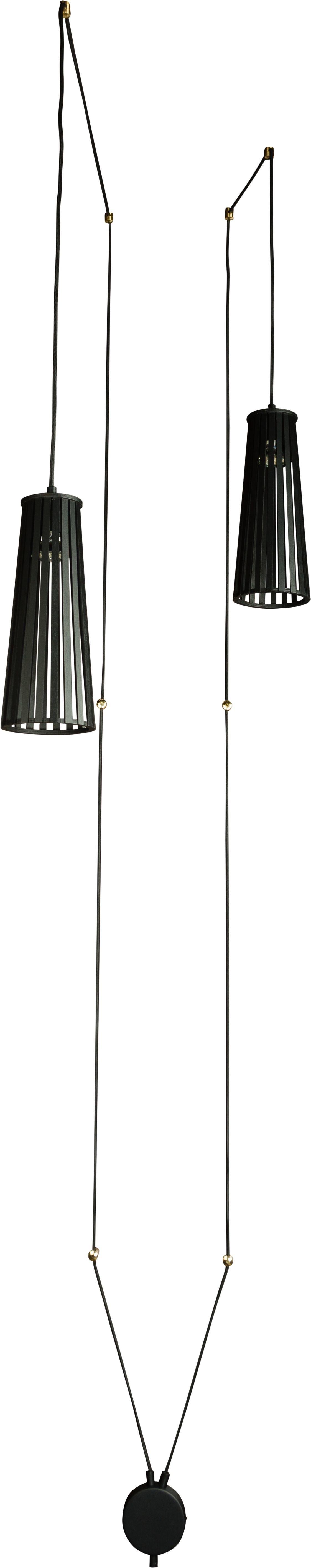 Nowodvorski Lampa sufitowa, kinkiet kabel DOVER II czarna by 9263