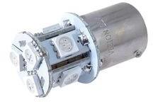 Żarówka samochodowa LED PY21W BA15s 12V 8xSMD pomarańczowa Y6-1313