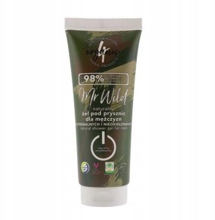 4organic Naturalny żel pod prysznic Mr Wild 75 ml