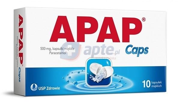 USP Zdrowie Apap Caps 500mg x10 kapsułek