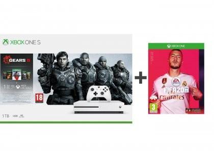 Microsoft Xbox One S 1TB Biały + Gears 5 + FIFA 20