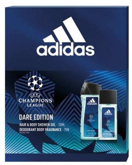 Adidas UEFA Dare Edition Zestaw prezentowy Deo naturalny spray + żel pod prysznic