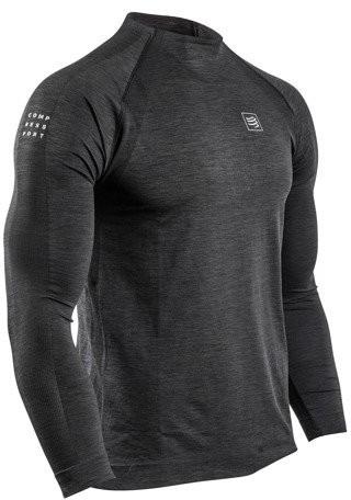 CompresSport koszulka z długim rękawem TRAINING TSHIRT czarna