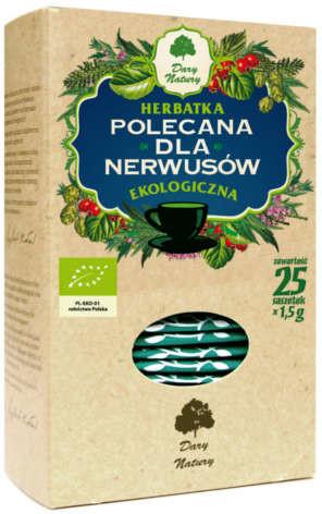 DARY NATURY Dary Natury herbatka dla nerwusów EKO x 25 sasz   DARMOWA DOSTAWA OD 149 PLN!