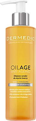 Dermedic Oilage, olejowy syndet do mycia twarzy, 200 ml | Darmowa dostawa od 199,99 zł !! 7071138