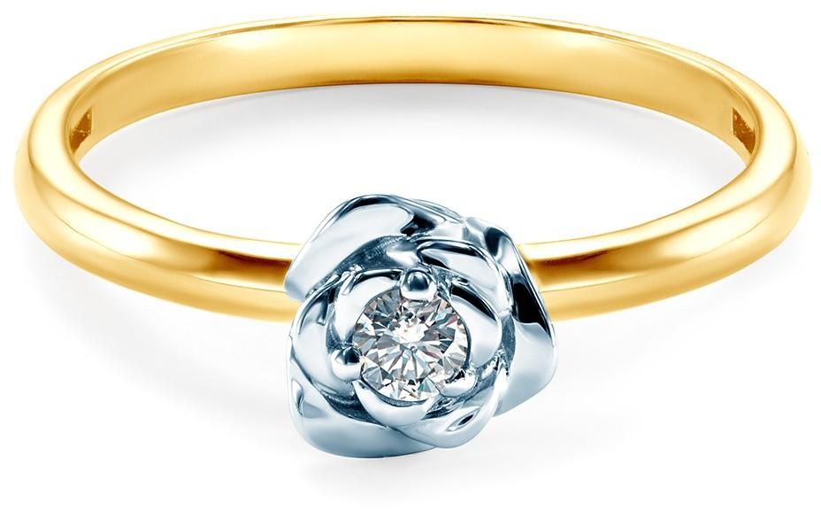 SAVICKI Pierścionek zaręczynowy Savicki: dwukolorowe złoto, diament SAV0159D