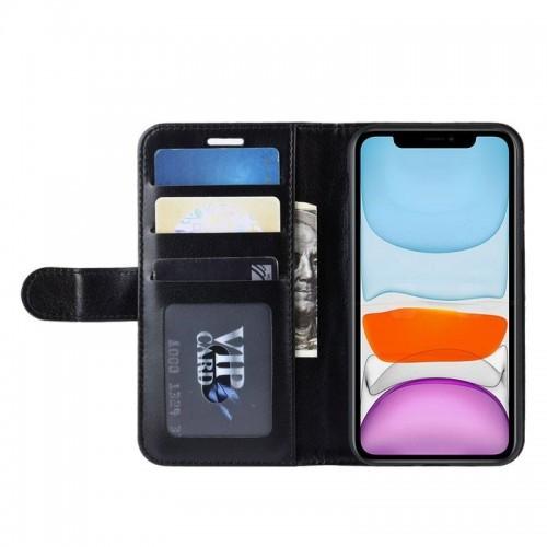 Booklet Crong Crong Wallet Etui iPhone 11 Pro Max z kieszeniami + funkcja podstawki czarny) 10_15201