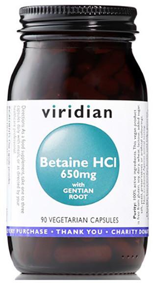 Viridian Betaina HCL z Goryczką (90 kaps) 5060003594710