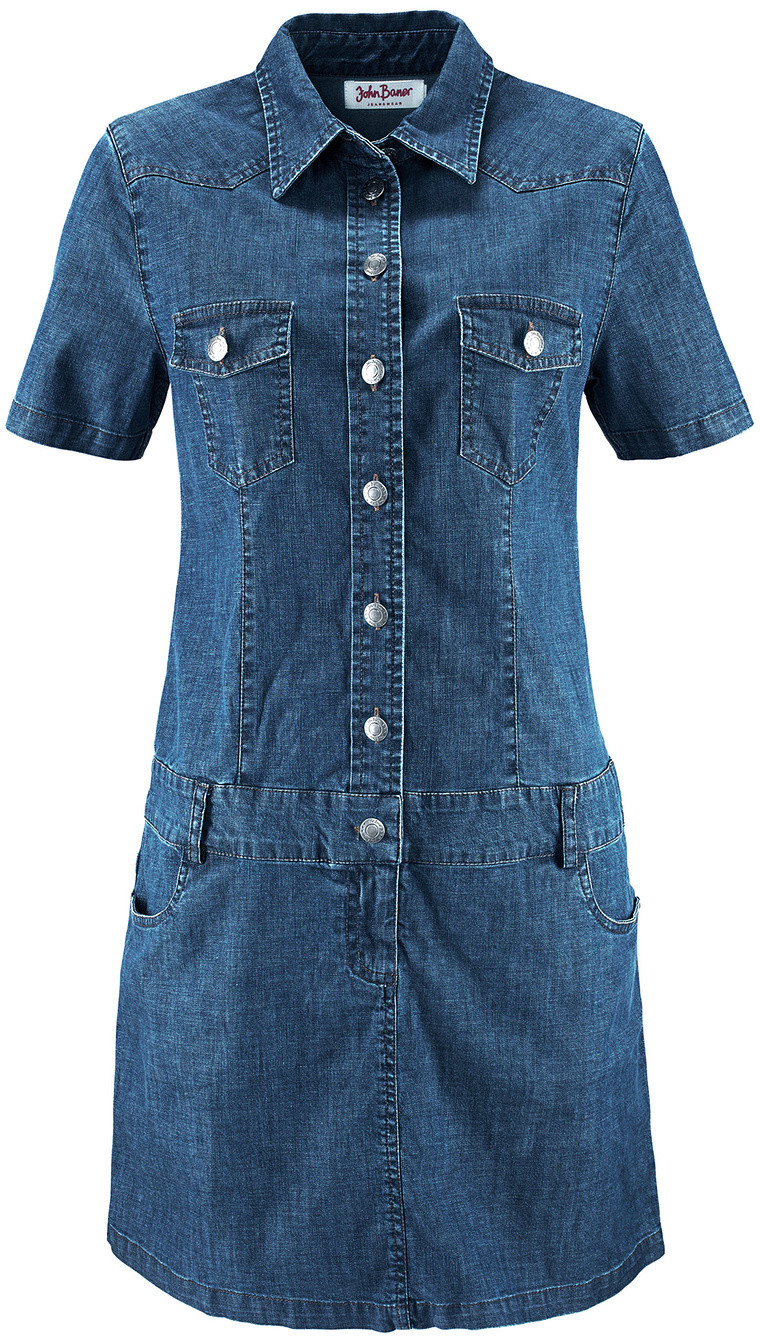 2bd62c5093 Bonprix Sukienka dżinsowa ze stretchem ciemnoniebieski