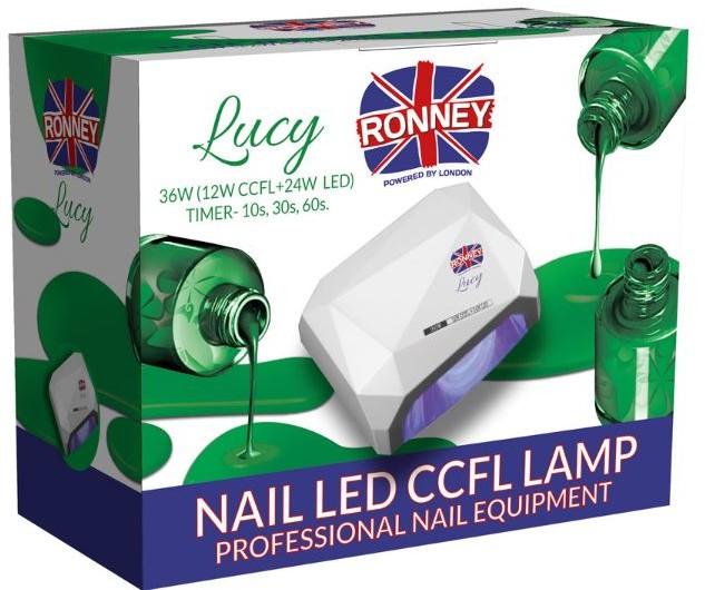ronney RONNEY LUCY Profesjonalna lampa do paznocki CCFL + LED 36W (GY-LCL-021) - CZARNA