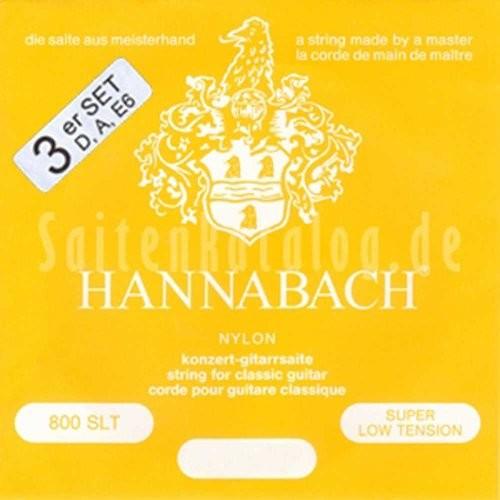 Hannabach Klassik Gita rrensaiten Serie 800Super Low Tension posrebrzany3ER Bass 652358