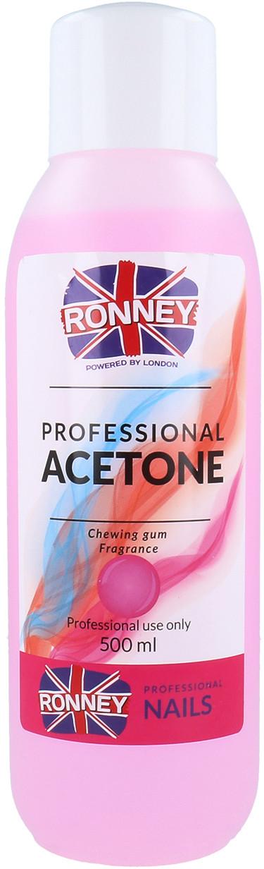 Ronney Ronney Professional Aceton Kosmetyczny Do Usuwania Paznokci Akrylowych I Lakieru Hybrydowego 500ml