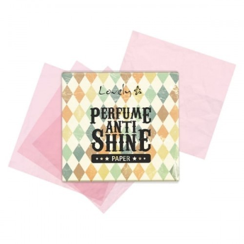 Lovely Lovely Bibułki matujące do twarzy Perfume Anti Shine 40szt