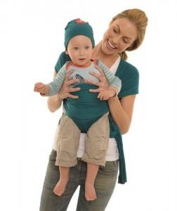 Quaranta Settimane Chusta do noszenie dziecka turkusowa