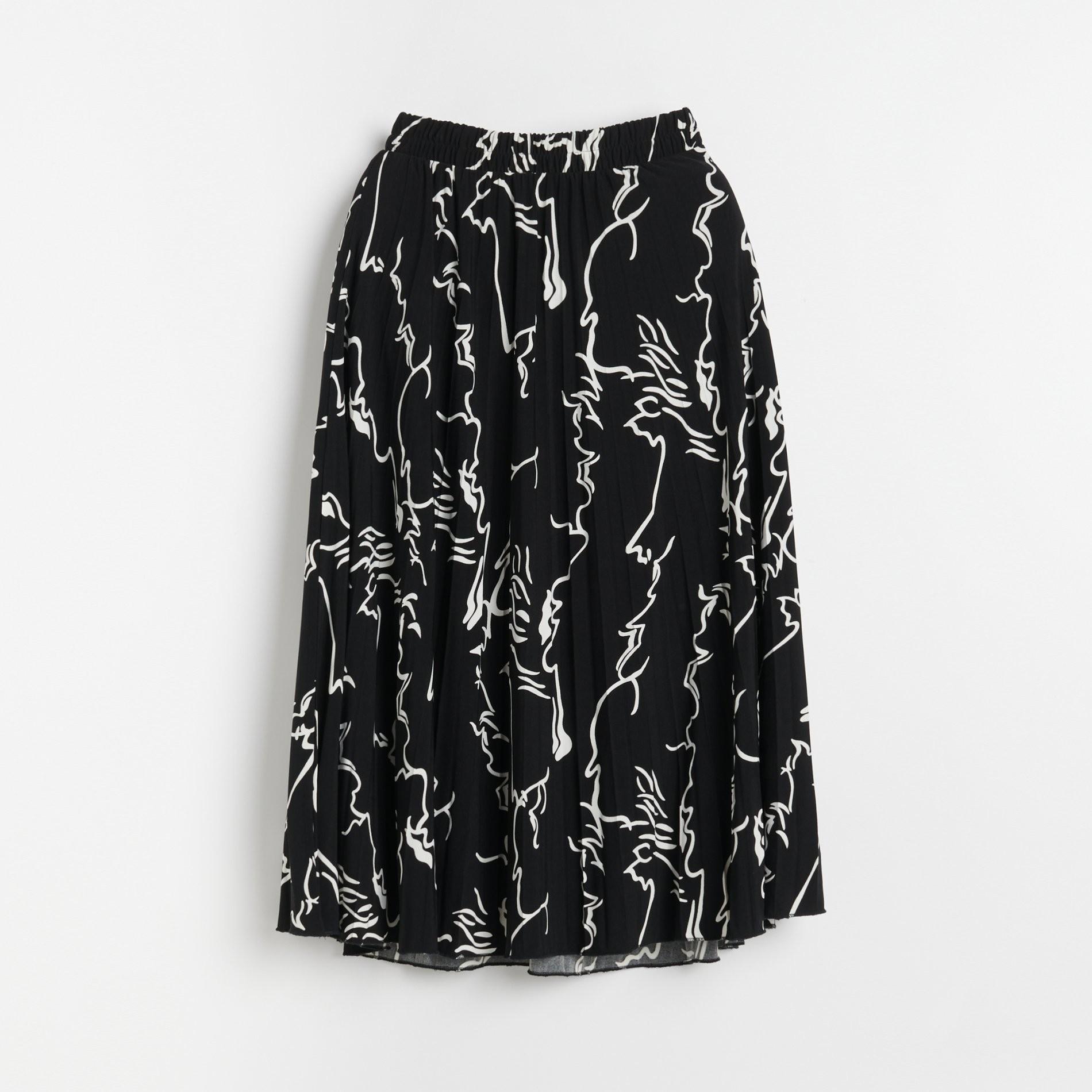 Reserved Plisowana spódnica Fioletowy Ceny i opinie
