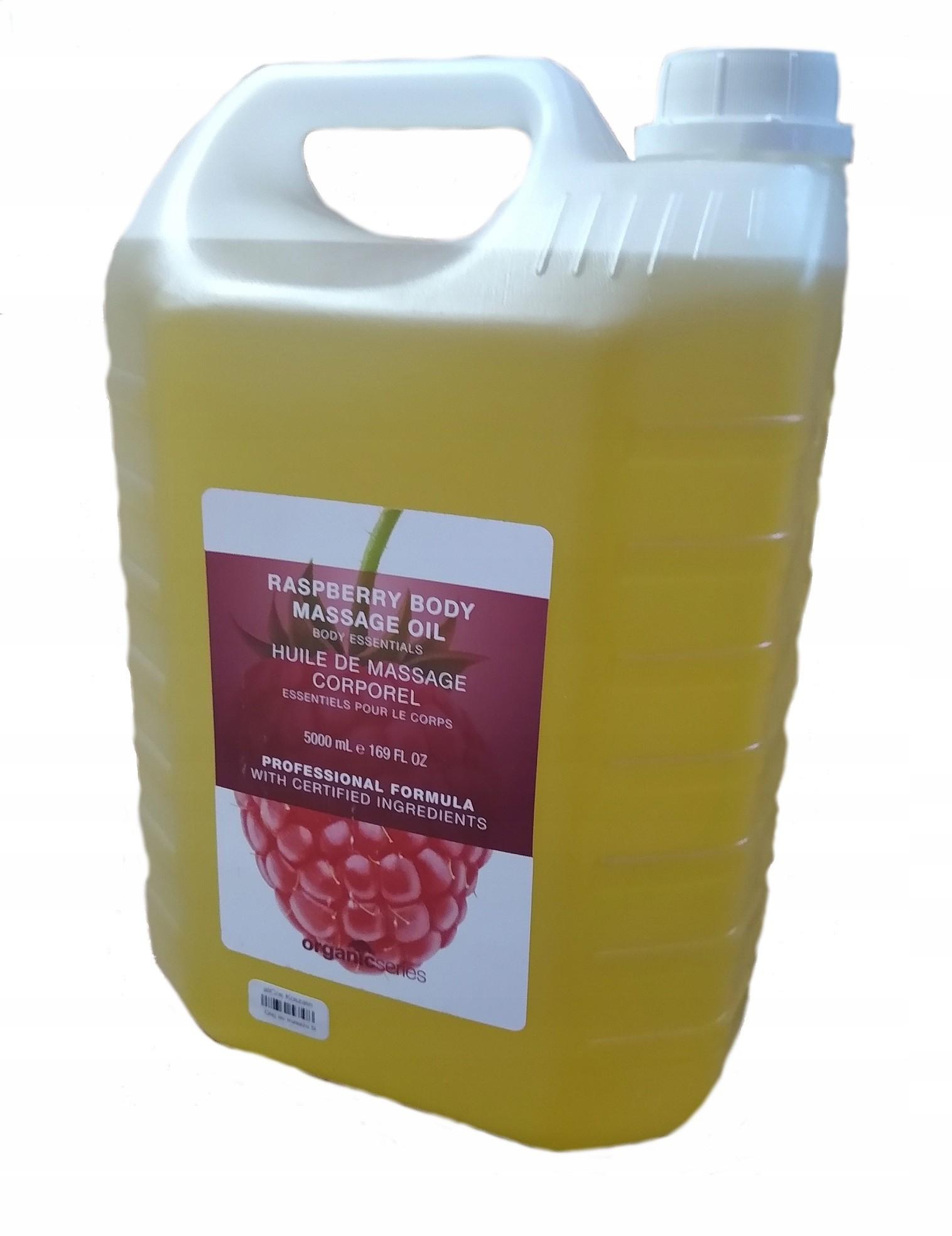 Organic Olej Oliwka do masażu ciała Malina 5L