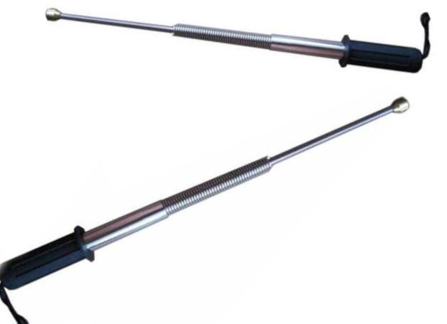 Pałka Teleskopowa Baton Trzyczęściowy Sprężynowy