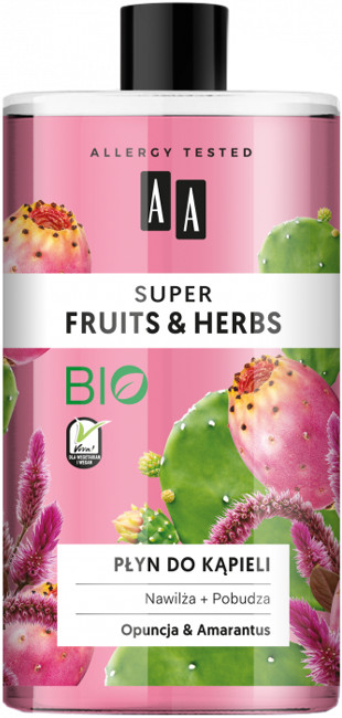 Oceanic Super Fruits&Herbs płyn do kąpieli opuncja/amarantus 750ml 52815-uniw